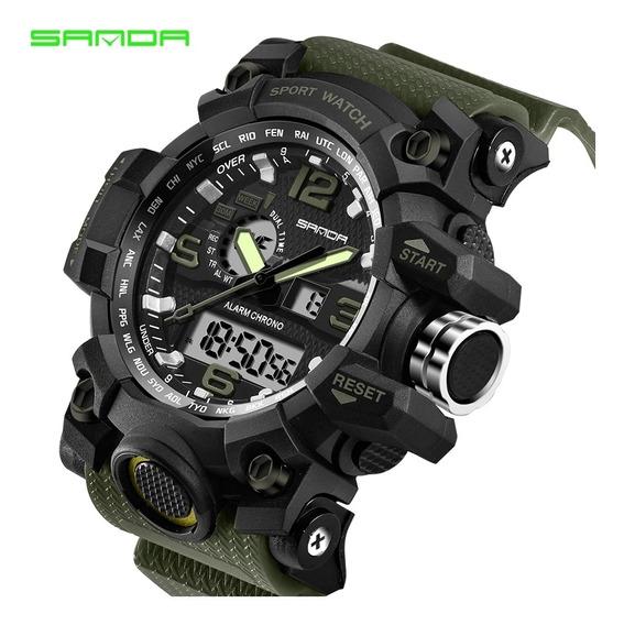 Relógio Esportivo Militar Sanda 742 Grande S-shock