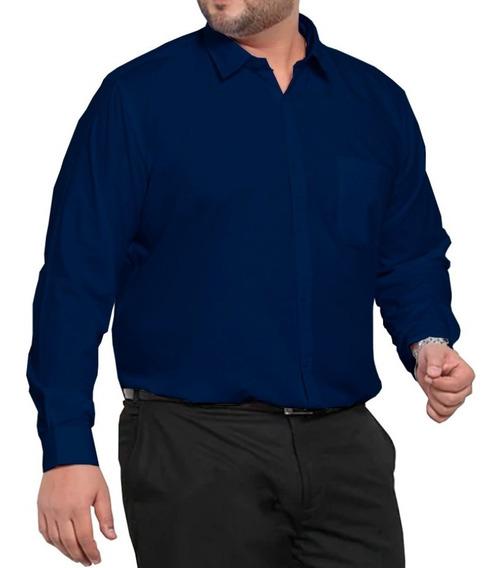 Camisa Social Manga Longa - Plus Size/ Extra Grande