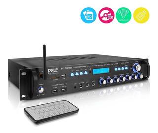 Pyle Amplificador Potencia P3201bt 3000w Max Bt Aux Fm Am