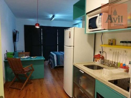 Studio Com 1 Dormitório Para Alugar, 33 M² Por R$ 2.500/mês - Santa Efigênia - São Paulo/sp - St0028
