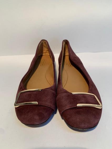 Zapato Tipo Flats, Coach, Original, Morados
