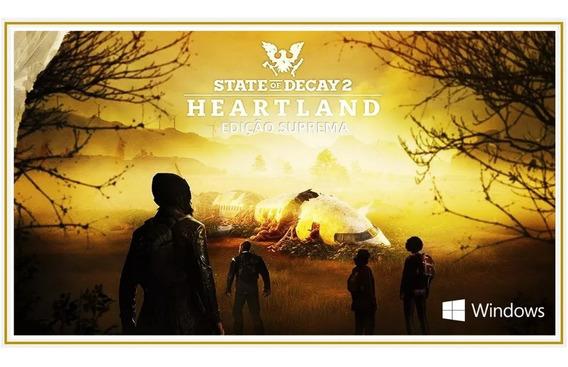 State Of Decay 2 Heartland Pc Edition Suprema Original