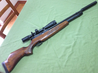 Impecable Rifle Pcp Bsa Modelo Buccaneer Made In Uk Cal 5.5
