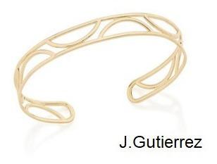 Bracelete Rommanel Detalhes Vazados Meio Círculo (551524)