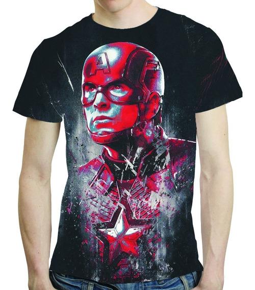 Camisa Vingadores Ultimato Camiseta Capitão America Avengers