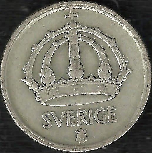 Suecia 1944 50 Ore Moneda De Plata Gustaf V L911