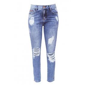 Calça Jeans Destroved Rasgada
