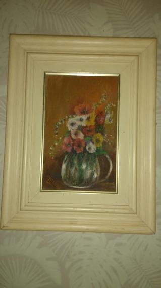 Ose Vaso Com Flores, Pintura Assinada Zenith