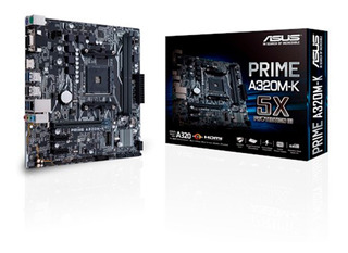 MOTHERBOARD ASUS PRIME A320M-K AM4 DDR4 A320 HDMI M2 6CTS