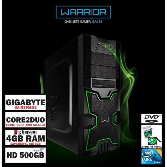 Computador Desktop Gamer Core2duo 3ghz 4gb Ram 500gb Hd
