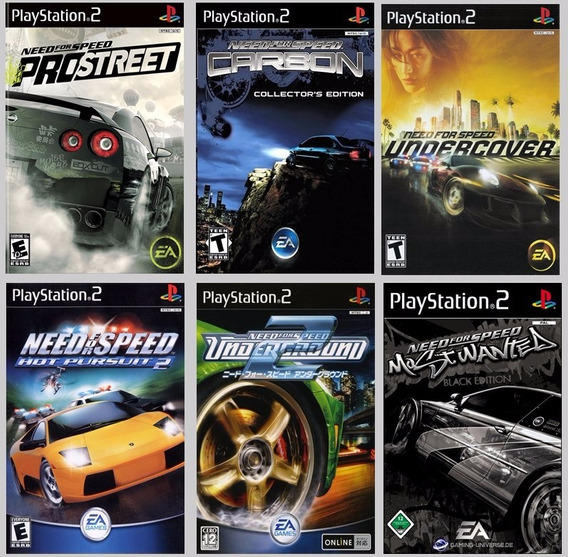 Need For Speed Collection 6 Jogos Para Ps2 É Patch!