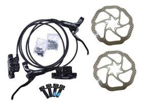 Freio A Disco Bike Gts Hidraulico Preto + Disco 160 Completo