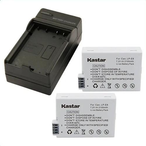 2 Baterias Y 1cargado Lp-e8 Para Canon Rebel T2i T3i T4i T5i