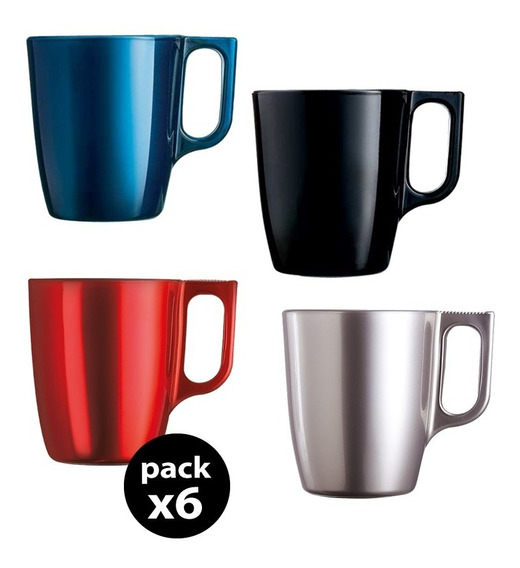Taza Jarro Mug 250 Cc Flashy Colours Breakfast X6