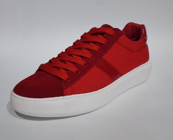 Tennis Xioma De Damas / Rojo - Negro