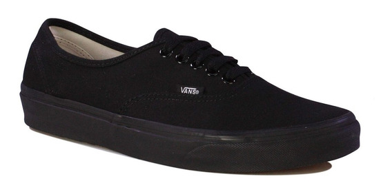 Zapatillas Vans Authentic Black Black Negro Unisex Original