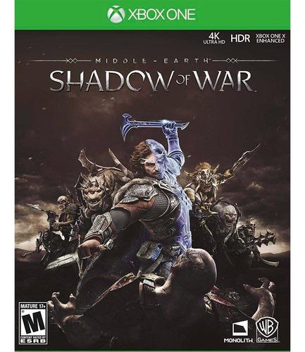 Middle Earth: Shadow Of War Xbox One Cd Físico Sellado