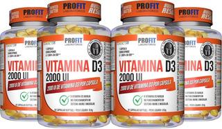 Kit 4x Vitamina D - Vit D3 2000ui 60 Cáps (240 Cáps) Profit