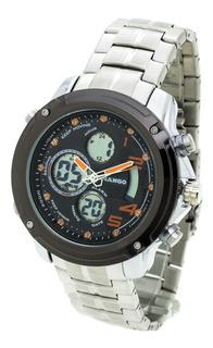 Reloj Mango Hombre 1638 Analógico Digital Crono Wr30 Metal