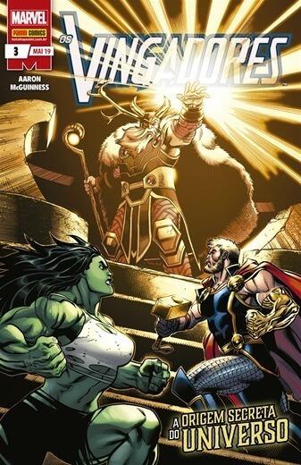 Hq Os Vingadores Nº 3 Ed Mai/2019 -a Origem Secreta Do U....
