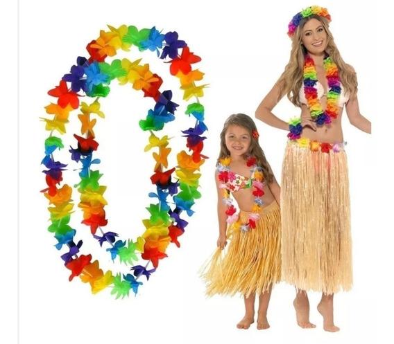 50 Collares Hawaianos Colores Neon