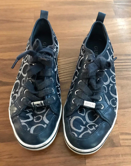 Zapatillas Guess Mujer Azules Talle 37
