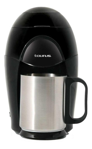 Imagen 1 de 1 de Cafetera Taurus Medea semi automática negra y plata de goteo 110V