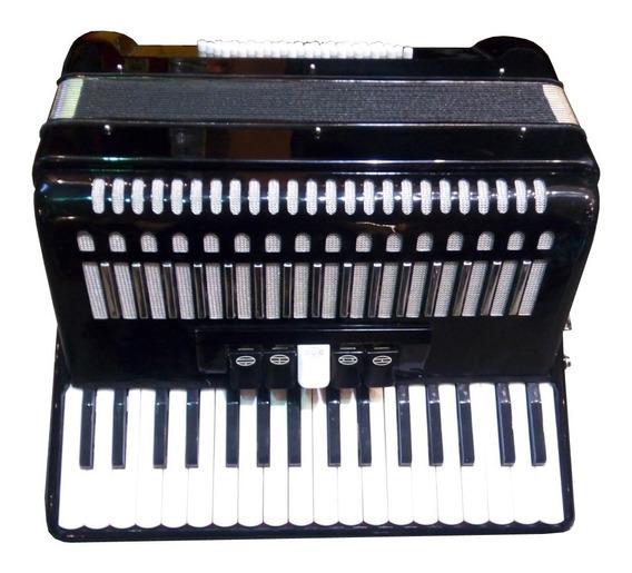 Acordeon A Piano Hunter Jb1307 34 Teclas 48 Bajos C/ Estuche