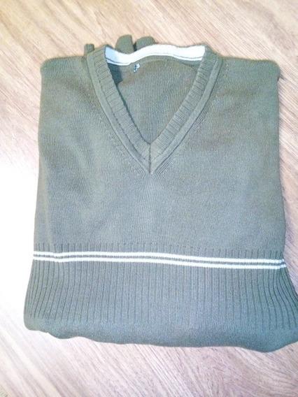 Pulover Sweater Escote V Liviano Cacharel T.l
