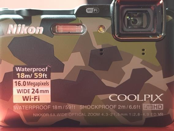 Nikon Colpix Aw120 Sumergible Camuflada - Camara De Fotos