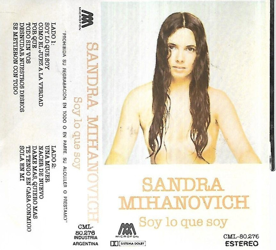 Sandra Mihanovich Album Soy Lo Que Soy Microfom Cassette