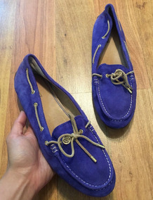 Zapatos Flats Mocasines Sperry Top Sider Piel Suede 25 Y Med