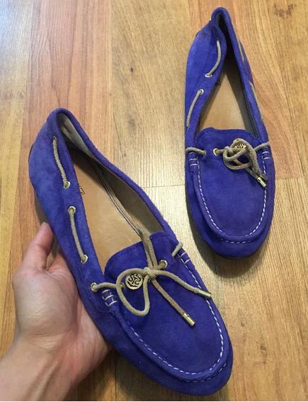 Zapatos Flats Mocasines Sperry Top Sider Piel Suede 25 Y Med