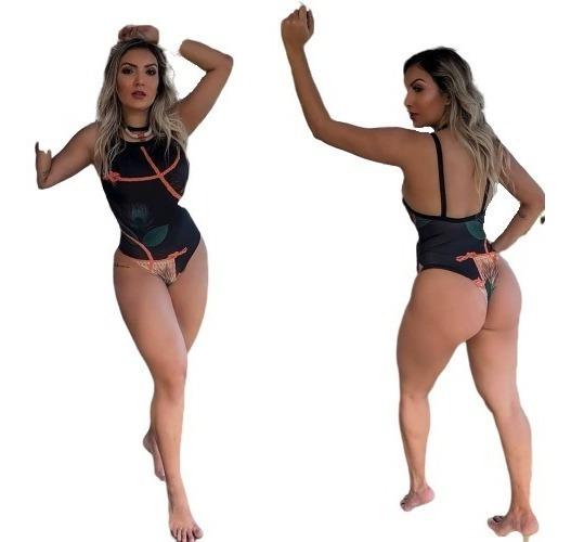 Maiô Body Sexy Moda Praia Verão Piscina Bori Ref 79k34