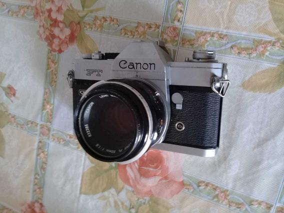 Máquina Fotográfica Analógica Canon Ft Com Objetiva 50mm