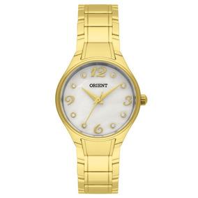 Relógio Orient Dourado Visor Madrepérola Pequeno Fgss0072