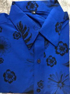 Camisa Xadrez / Floral Estampada Slim Fit Promoção - Atacado