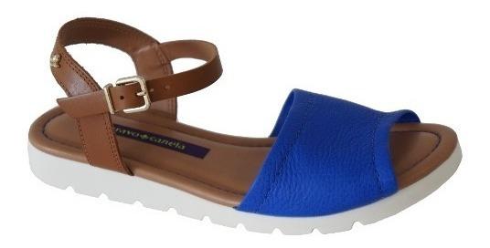 Avarca Feminina Cravo Canela 147806 - Azul/camel