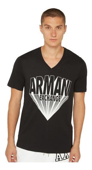 Playera Armani Exchange V-neck Vintage Logo Tee Premium Talla M ( Amplia)