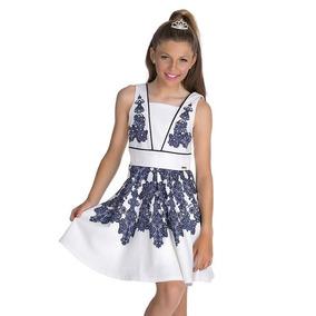 Roupa Infantil Vestido Menina Diforini Bordado Super Luxo