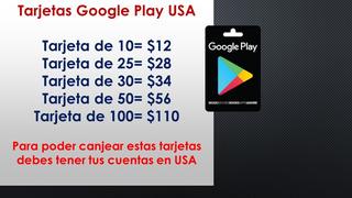 Tarjeta Google Play Store Quito Guayaquil Cuenca
