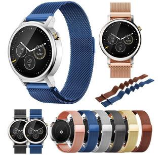 Correa Metal Milanese Reloj Motorola Moto 360 Smartwatch 2gt