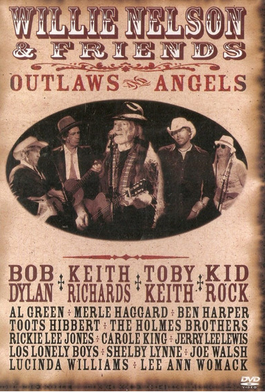 Dvd Willie Nelson & Friends - Outlaws And Angels - Novo***