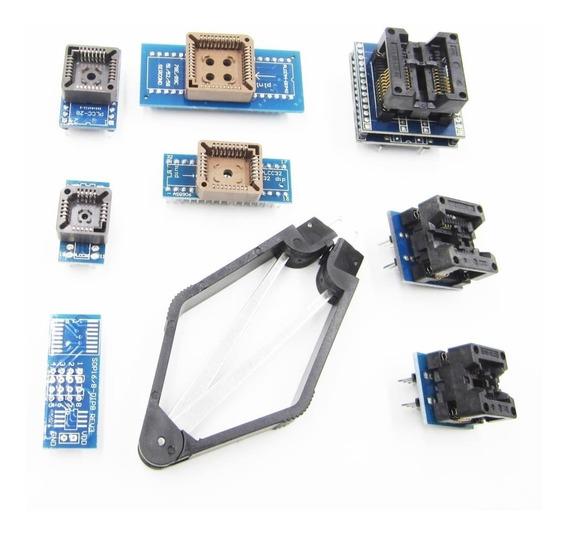 Kit 9 Adaptadores Sop16 Sop8 Plcc Dip Para Tl866cs Tl866