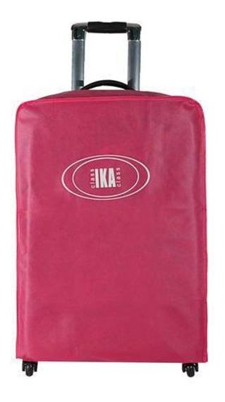Capa Protetora Para Mala De Viagem Média Rosa Ika