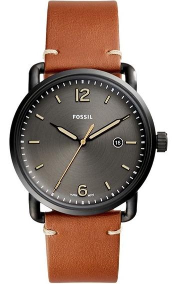 Relógio Masculino Fossil Commuter Fs5276/2pn Pulseira De Cou