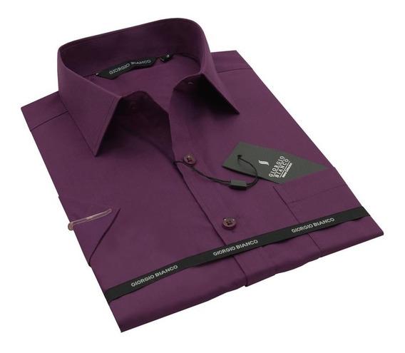 Camisa Masculina Manga Curta Slim Mc-28033