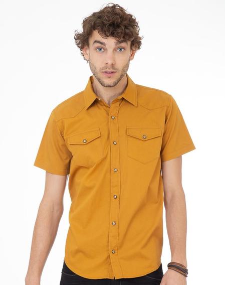 Camisa Mostaza Regular-fit Bolsas Cartera Std 362105404