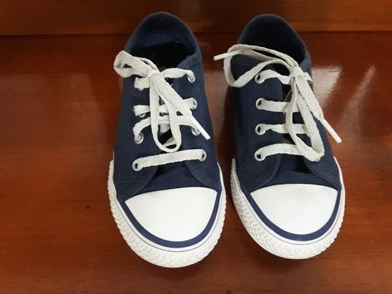 Zapatillas Lona N°26 Azul Cheeky Usadas - 2 Posturas