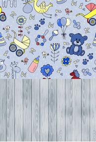 Fundo Fotográfico Infantil Em Tecido 1,50x2,20m Nb06